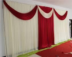 Wedding Backdrop Curtains For Sale Discount Red White Backdrop Curtains 2017 Red White Backdrop