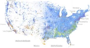 Chicago Map Of Usa by Incredibly Detailed Map Shows Race Segregation Across America In