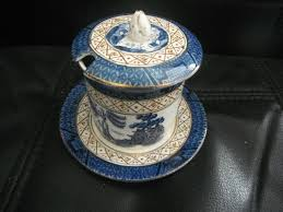 willow pattern jam pot booths old willow pattern cup saucer side plate rare jam pot