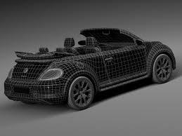 convertible volkswagen 2016 rebusmarket high quality 3d models