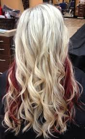 best 25 blonde with red highlights ideas on pinterest red