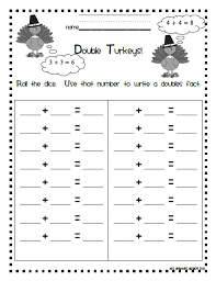 number names worksheets near doubles worksheet free printable