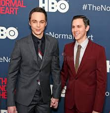 jim parsons new york jim parsons and todd spiewak editorial image image of play heart
