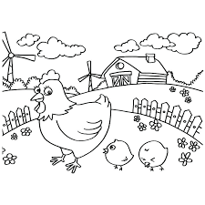 coloring page of a chicken chicken little coloring pages chicken coloring page chicken little