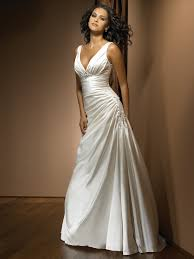 Satin Wedding Dresses Strap Ruched Satin Wedding Gowns With Applique On Sale Strap