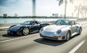 custom porsche 959 1989 porsche 959 vs 2015 porsche 918 spyder u2013 feature u2013 car and