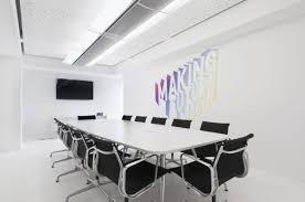 apartment modern minimalist office meeting room black ceiling