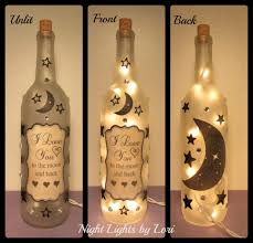 i love you to the moon and back wine bottle