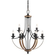 Candle Chandelier Lighting Black Candle Style Chandeliers Lighting The Home Depot