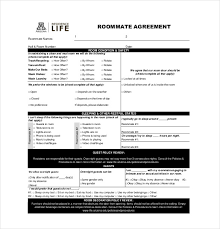 12 roommate agreement templates u2013 free sample example format