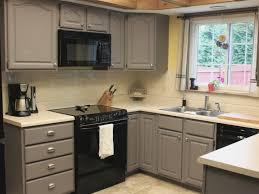 Handyman Kitchen Cabinets Spray Painting Kitchen Cabinets How To Paint Family Handyman 1