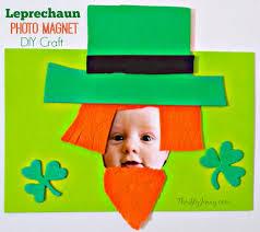 leprechaun photo magnet st patrick u0027s day craft thrifty jinxy