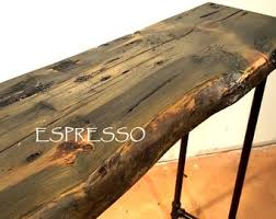 natural wood console table wood console table etsy
