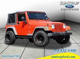 jeep wrangler orange orange jeep wrangler in missouri for sale used cars on