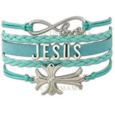christian bracelet 10 pcs lot infinity jesus sideways cross charms bracelets