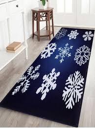 deep blue w16 inch l47 inch christmas snowflake antiskid coral