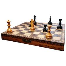 Travel Chess Set images Antique pokerwork travel chess set miniature chess stolenattic jpg