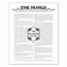 family proclamation lds family proclamation posters from 7 99 personalized
