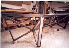 Custom Metal And Wood Furniture Modloft Argyll Dining Table Base Tables Metals And Woods