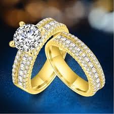 promise engagement and wedding ring set aliexpress buy promise engagement rings for couples