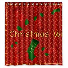 cheap christmas shower curtain find christmas shower curtain