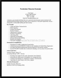 Non Profit Resume Samples Examples Of Resumes Skill Resume Sample How To Write A Senior