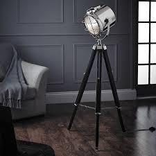 Home Decor Floor Lamps Endon Lighting Tripod Spotlight Floor Lamp Home Decor