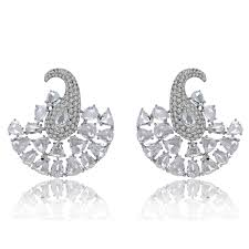 diamonds earrings cut diamond earrings in white gold the jewellery editor