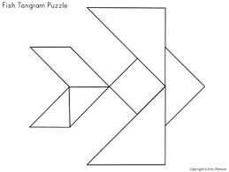 tangram puzzles ocean by erin thomson u0027s primary printables tpt