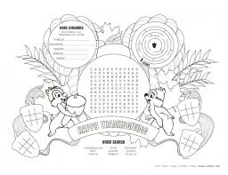 disney parks inspired thanksgiving placemats