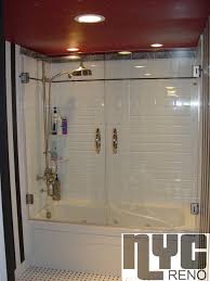 Shower Door Nyc Inline Shower Door Custom Glass Shower Doors Nyc Reno