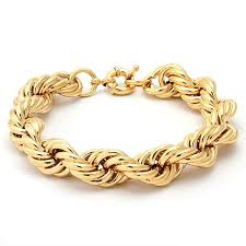 rose gold rope bracelet images Run dmc fat 10mm gold rope dookie chain bracelet hip hop jewelry jpeg