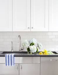 Granite Countertops And Kitchen Tile Cwb Architects Kitchens White Shaker Kitchen Cabinets Black