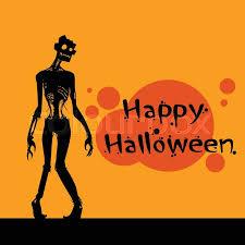 zombie scary cartoon character happy halloween banner walking dead