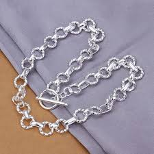 sterling silver necklace wholesale images Wholesale price round link chain silver necklaces 925 sterling jpg