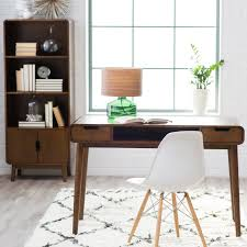 Plastic Office Desk Brown Minimalist Office Desk With Storage And Shelves White