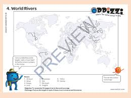 worlds rivers map rivers oddizzi