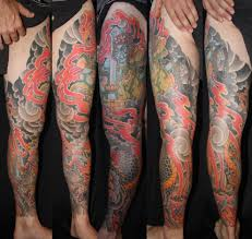 japanese dragon leg sleeve tattoo by daniel bursell tattoonow