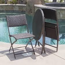 Images Of Square Garden Furniture - amazon com belleze folding table u0026 chair bistro set rattan wicker