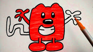 how to draw coloring cartoon character red wubbzy from wow wow