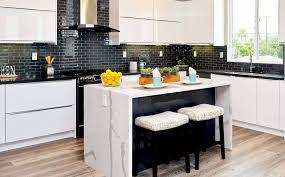 white kitchen cabinets and black quartz countertops 12 black quartz countertops ideas for kitchen counter
