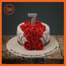 anniversary cake 7th anniversary fondant cake delivery all karachi