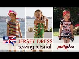 how to sew a kids u0027 jersey knit tank dress with binding and double