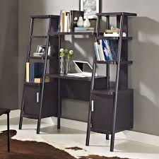 altra espresso ladder bookcase towers with desk 9807096