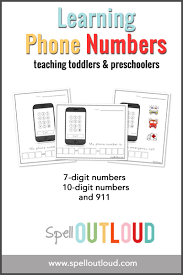 learning telephone numbers printable spell out loud