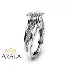 filigree design diamond engagement ring unique 2 carat diamond