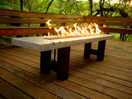 furniture ideas rectangle fire pit table with wooden pattern