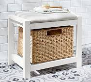 Seagrass Bench Seagrass Storage Bench Pottery Barn