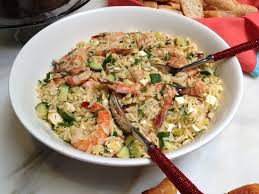 ina garten s shrimp salad barefoot contessa two salads adapted from ina garten roasted shrimp and orzo and