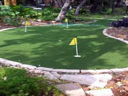 Small Backyard Putting Green Artificial Turf Lake Arrowhead California Home Putting Green